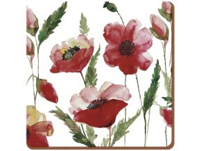 Creative Tops Parafa poháralátét Watercolour Poppy 6db-os