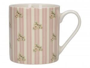 Katie Alice Bögre Cottage Flower Pink Stripe